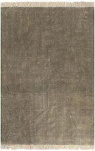 Asupermall - Kilim Rug Cotton 200x290 cm Taupe
