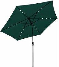 Asupermall - LED Cantilever Umbrella 3 m Green