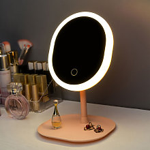 Asupermall - Makeup Mirror Square Base with Lamp
