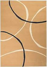 Asupermall - Modern Rug Circle Design 140x200 cm