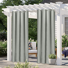 Asupermall - Outdoor curtain, gray two-piece