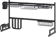 Asupermall - Over Sink Dish Drying Rack Stainless