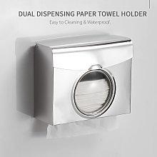 Asupermall - Paper Towel Dispenser Dual Dispensing