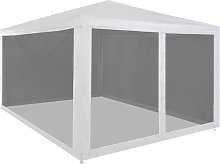 Asupermall - Party Tent with 4 Mesh Sidewalls 4x3 m