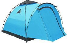Asupermall - Pop Up Camping Tent 3 Person Blue