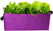 Asupermall - Rectangular felt planting bag,