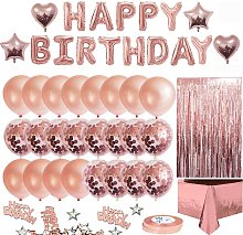 Asupermall - Rose Gold Birthday Party Decorations