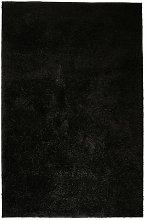Asupermall - Shaggy Area Rug 140x200 cm Black