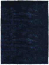 Asupermall - Shaggy Area Rug 140x200 cm Blue