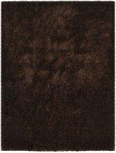 Asupermall - Shaggy Area Rug 140x200 cm Brown