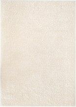 Asupermall - Shaggy Area Rug 140x200 cm Cream