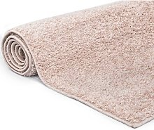 Asupermall - Shaggy Area Rug 140x200 cm Old Pink