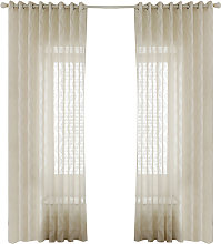 Asupermall - Sheer Voile Window Curtain with Ring