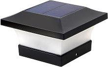 Asupermall - Solar Post Cap Light Fence Lamp