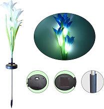 Asupermall - Solar Powered Flower LEDs Light Lawn