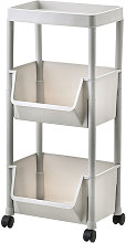Asupermall - Storage Trolley Rolling Cart Kitchen