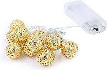 Asupermall - String Lights 20 LED Metal Ball Light