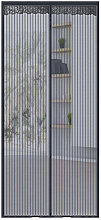 Asupermall - Striped mosquito curtain, magnetic