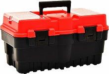 Asupermall - Tool Box Plastic 462x256x242 mm Red