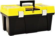 Asupermall - Tool Box Plastic 595x337x316 mm Yellow