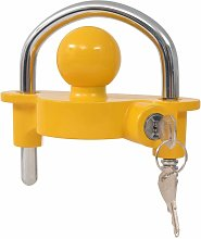 Asupermall - Trailer Lock with 2 Keys Steel and