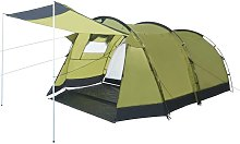 Asupermall - Tunnel Camping Tent 4 Person Green