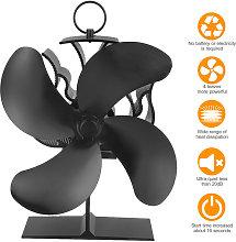 Asupermall - Upgrade 4 Blades Heat Powered Stove