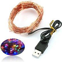 Asupermall - USB Copper Lamp String Christmas LED