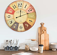 Asupermall - Vintage Wall Clock Colourful 60 cm