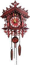 Asupermall - Vintage Wooden Wall Cuckoo Clock