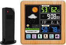Asupermall - Weather Station Alarm Clock Indoor &