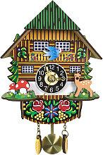Asupermall - Wooden Cuckoo Wall Clock Swinging