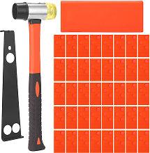 Asupermall - Wooden floor tool set, 43-piece hook