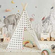 Asweets Teepee Tent for Girls, Princess Canvas