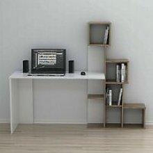 Asya Desk with Shelves - for Living Room, Bedroom,