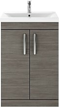 Athena Grey Avola 600mm Floor Standing 2 Door