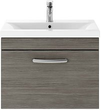 Athena Grey Avola 600mm Wall Hung Single Drawer