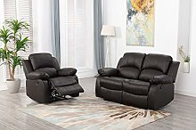 Athon furniture Brown 2+1 seater, Double and