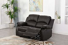Athon furniture Brown 2 seater, Double Recliner
