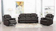 Athon furniture Brown 3+1+1 seater, Double,