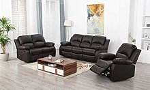 Athon furniture Brown 3+2+1 seater, Double,