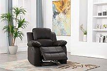 Athon furniture Brown Armchair Recliner Sofa,