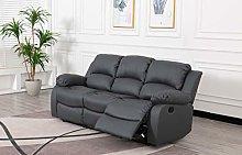 Athon furniture Grey 3 seater, Recliner Sofa set,