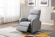 Athon furniture Ligh Grey Leather Stylish Armchair