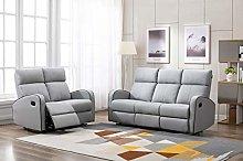 Athon furniture Light Grey Leather Stylish 3+2