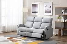 Athon furniture Light Grey Leather Stylish 3