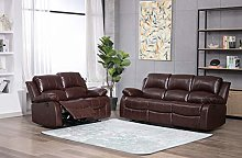 Athon furniture Mahogany Brown 3+2 seater, Double