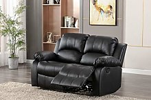 Athon Leather Recliner Sofa, Love seat, settee,