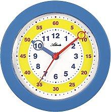 Atlanta Blue Plastic Wall Clock 22.5cm