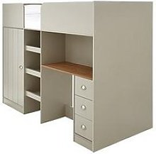 Atlanta High Sleeper With Desk, Drawers And